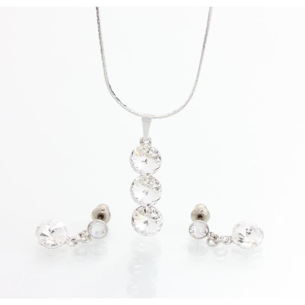 Set náhrdelníku a náušníc Laura Bruni Three Drops