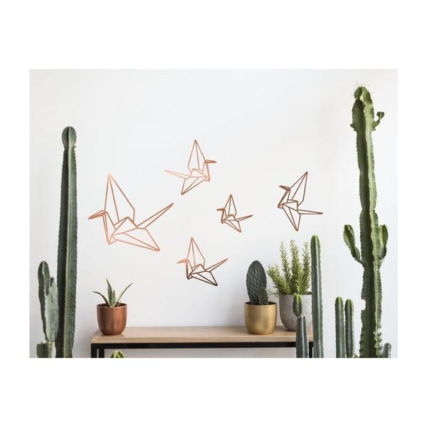 Samolepka na stenu Origami