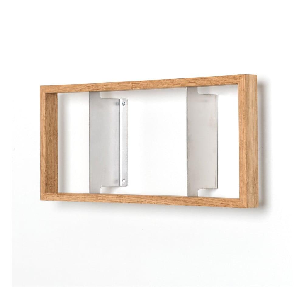 Polica na knihy z dubového dreva das kleine b b2, výška 22 cm