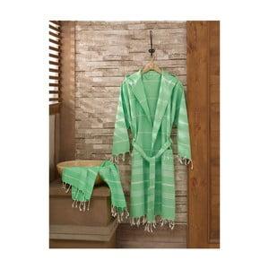Set županu a ručníku Sultan Light Green, vel. L/XL