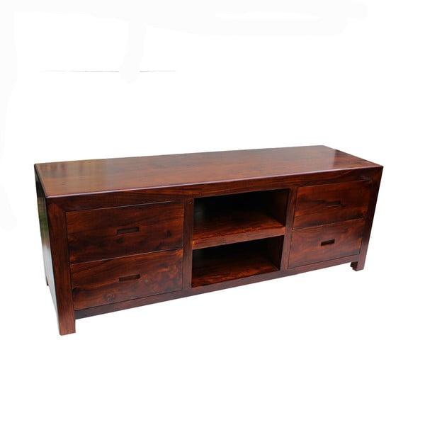 Televízny stolček z palisandra Indigodecor, 150x55 cm