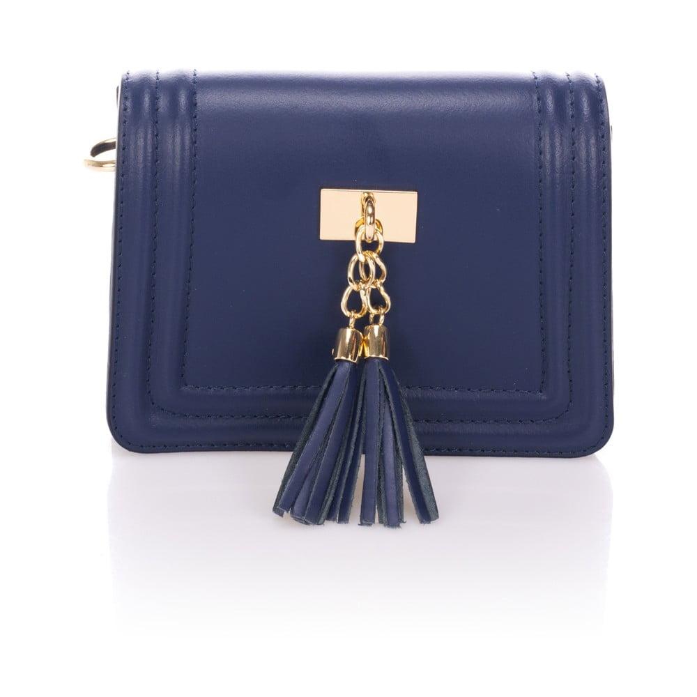 Modrá kožená listová kabelka Giorgio Costa Abelia