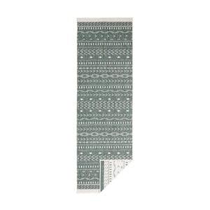 Zeleno-krémový obojstranný vysokoodolný behúň Bougari Twin Supreme Daro, 80×350 cm