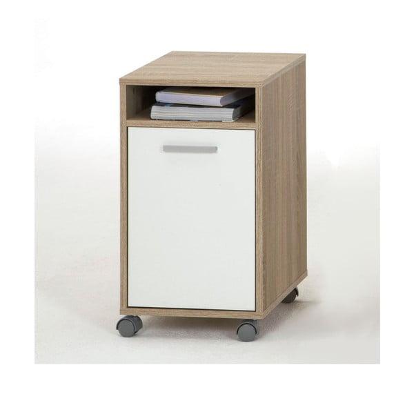 Kancelárske zásuvky Laurenz, biela/dub