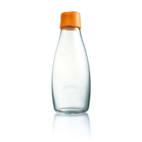 Oranžová sklenená fľaša ReTap s doživotnou zárukou, 500ml