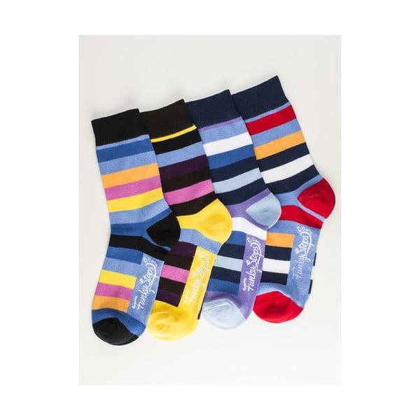 Štyri páry ponožiek Funky Steps Kirie, univerzálna veľkosť