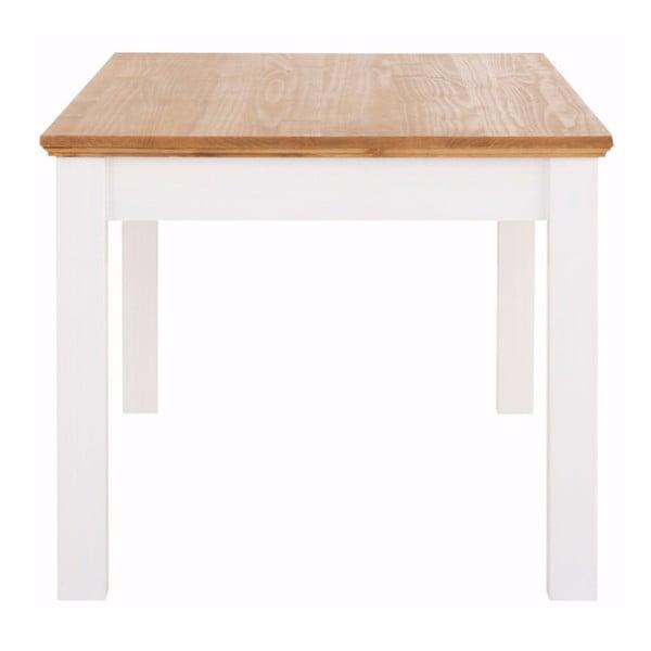 Biely jedálenský stôl z masívneho borovicového dreva so zásuvkou Støraa Suzie