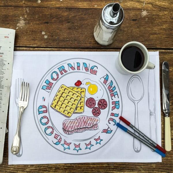 Sada 4 prestieraní na vymaľovanie Doodle, tanier
