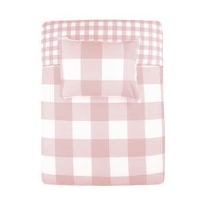 Ružové bavlnené obliečky na dvojlôžko Walra Portland, 240×220 cm