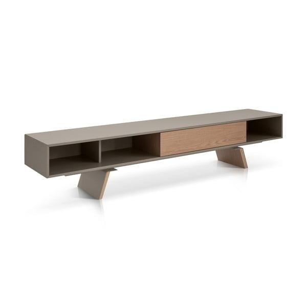 Televízny stolík E-klipse AL2, 250cm, béžový/dub