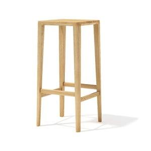 Barová stolička z masívneho dubového dreva Javorina, 80 cm