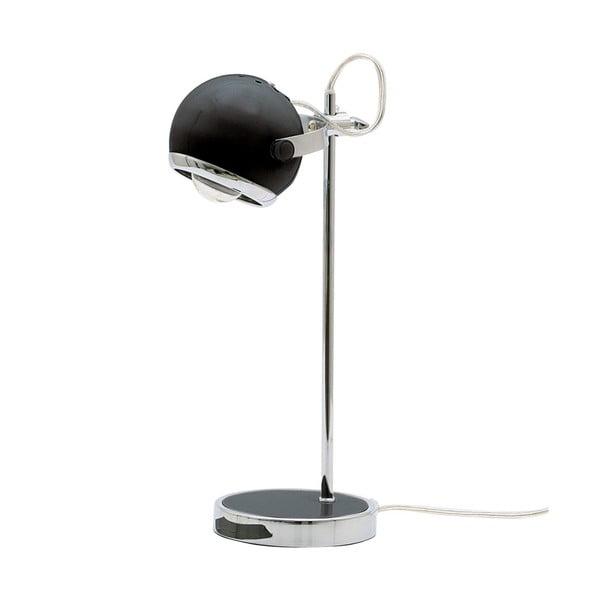Retro stolová lampa, čierna