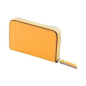 Žltá peňaženka z kože Andrea Cardone Saffiano