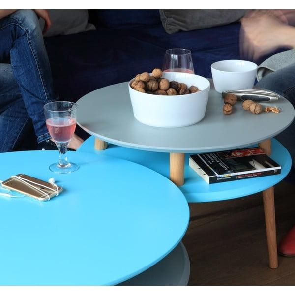 Grafitovosivý konferenčný stolík Ragaba UFO, Ø70 cm