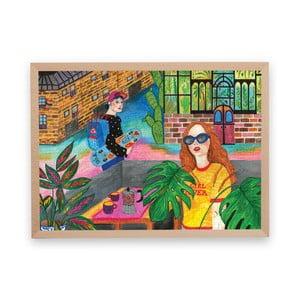 Puzzle z recyklovaných materiálov v bukovom ráme Pucle Girl Power, 500 dielikov