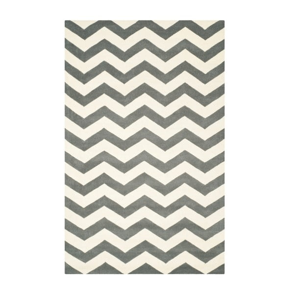 Vlnený koberec Crosby Middle Grey, 152x243 cm