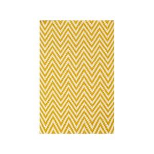 Vlnený koberec Zig Zag Yellow, 240x155 cm
