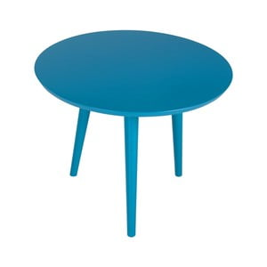 Modrý príručný stolík Durbas Style Tweet