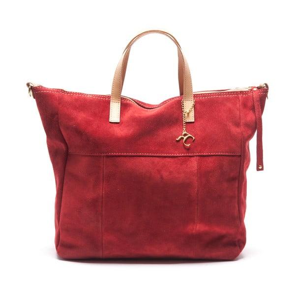 Kožená kabelka Renata Corsi 8026, červená