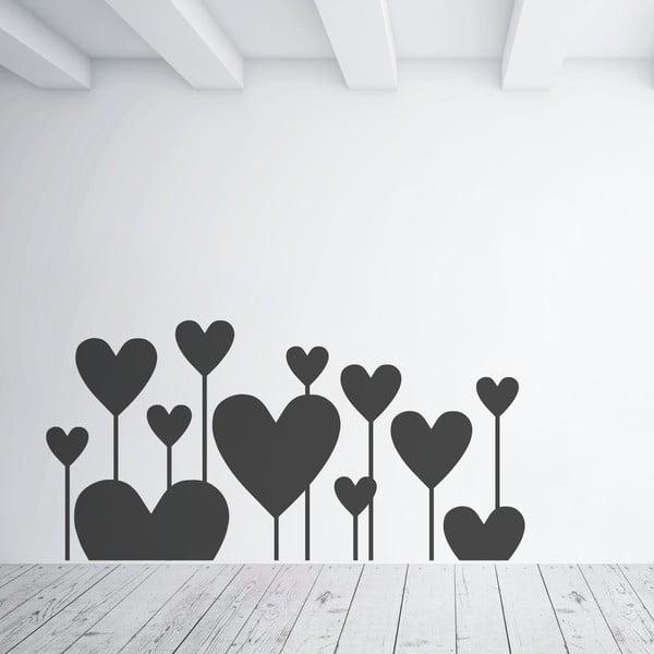 Samolepka na stenu Hearts Like flowers