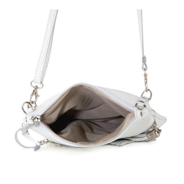 Kožená kabelka Roberto, biela