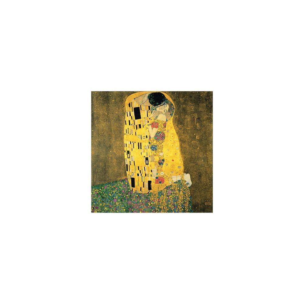 Reprodukcia obrazu Gustav Klimt The Kiss, 50 × 50 cm