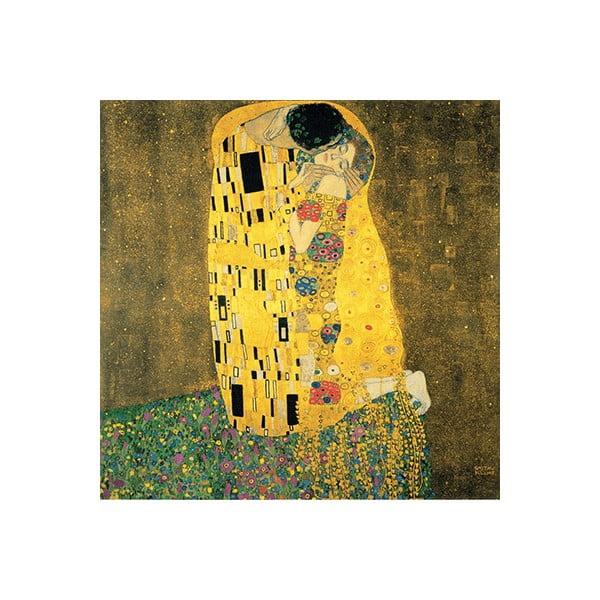 Reprodukcia obrazu Gustav Klimt The Kiss, 50x50cm