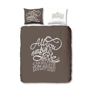 Bavlnené obliečky Muller Textiels Chocolate Love, 240 x 200 cm