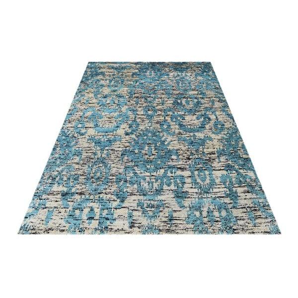Vlnený koberec Bakero Ikat Turquoise,120x180cm