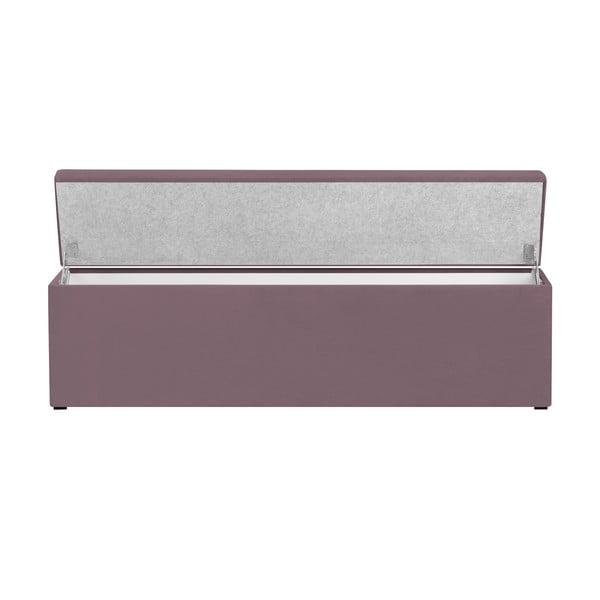 Levanduľovo-fialový otoman s úložným priestorom Cosmopolitan Design LA, 160 x 47 cm