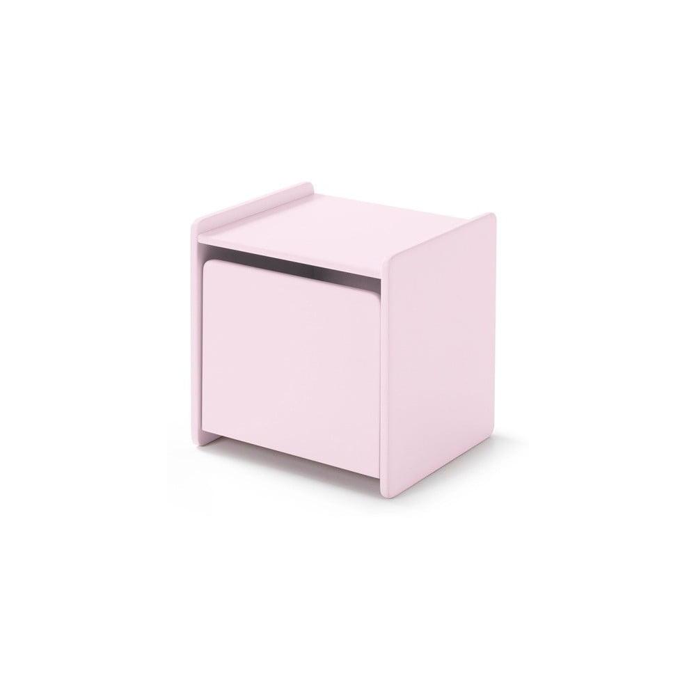 Ružový nočný stolík Vipack Kiddy