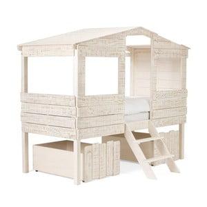 Biela detská posteľ z mangového dreva SOB Desert