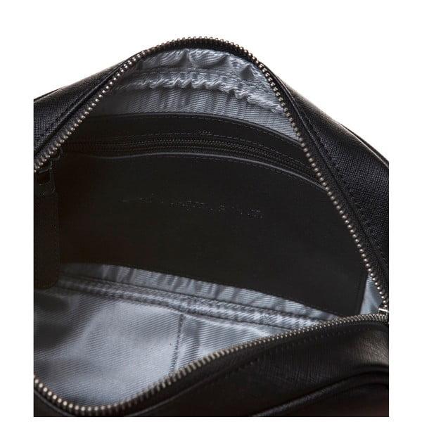 Kožená kabelka s dlhým popruhom Marta Ponti Aipee, čierna