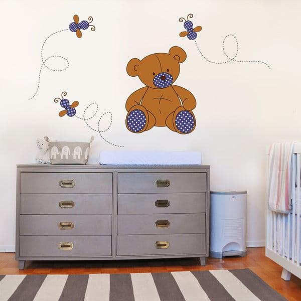 Samolepka na stenu Plyšový medvedík, 70x50 cm