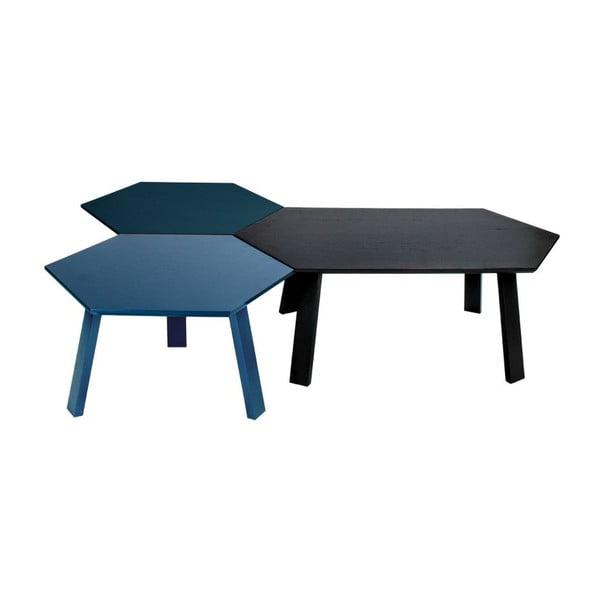 Konferenčný stolík Hexagon Blue, 47x37x47 cm