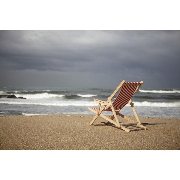 Skladacie ležadlo Beach, modré prúžky