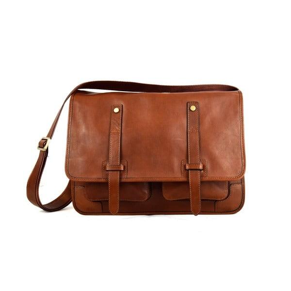 Kožená taška Santo Croce 108718 Brown