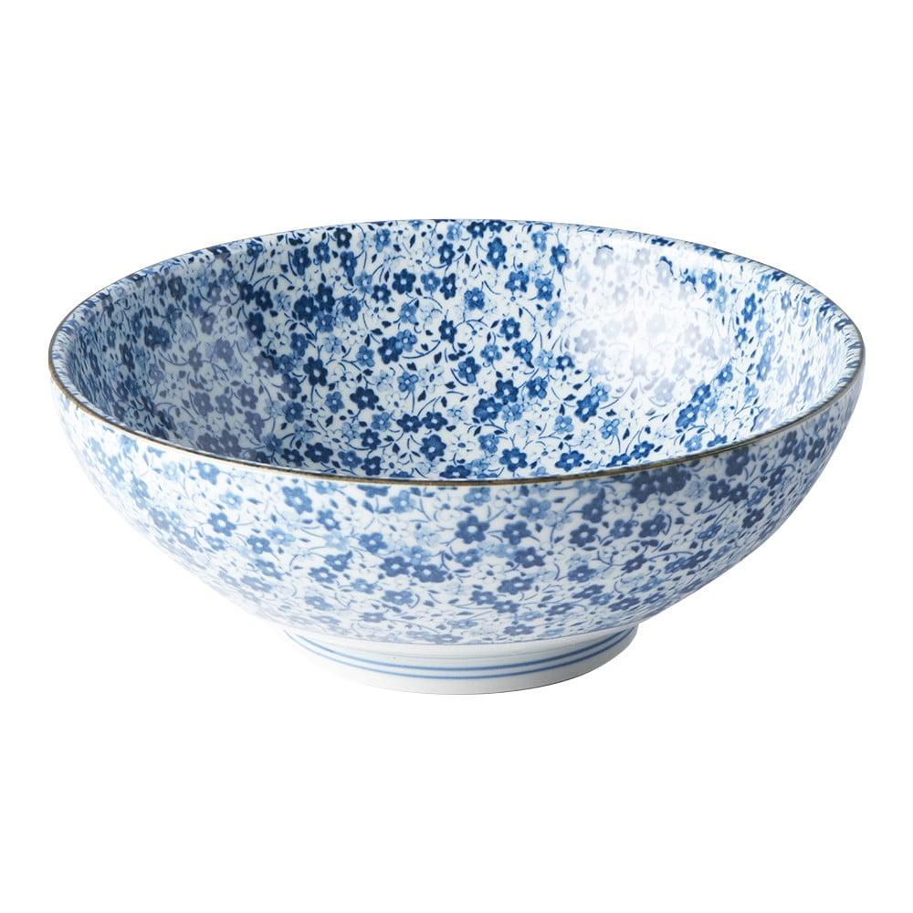Modro-biela keramická miska Mij Daisy, ø 21,5 cm