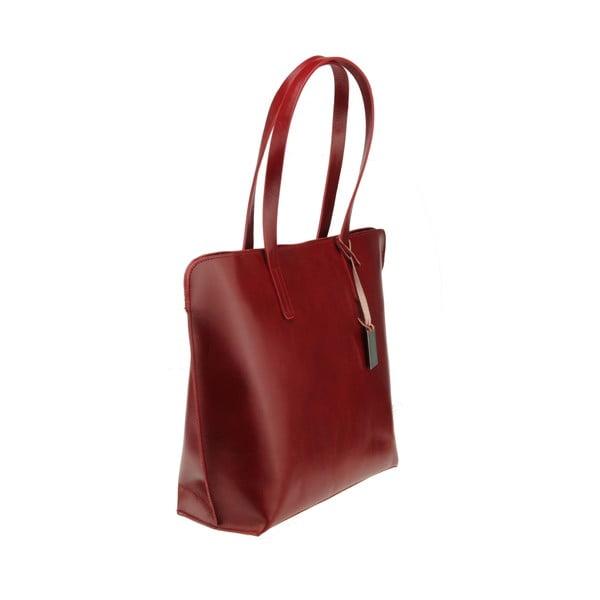 Červená kožená kabelka Florence Vega