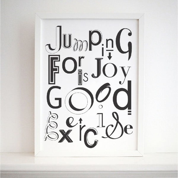 Plagát Jumping For Joy, 30x40 cm