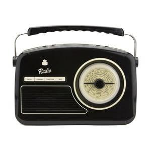 Čierne rádio GPO Rydell Nostalgic Dab Radio Black
