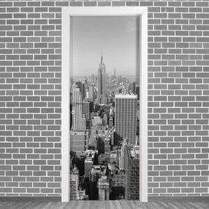 Samolepka na dvere LineArtistica New York Uno, 80×215 cm