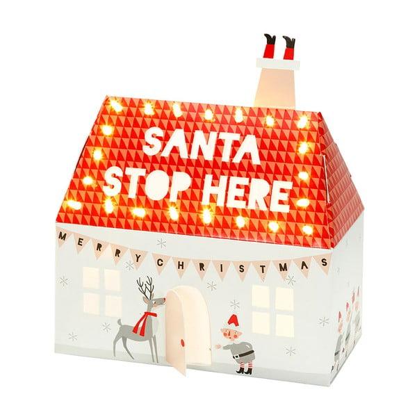 Svietiaci domček Santa Stop Here