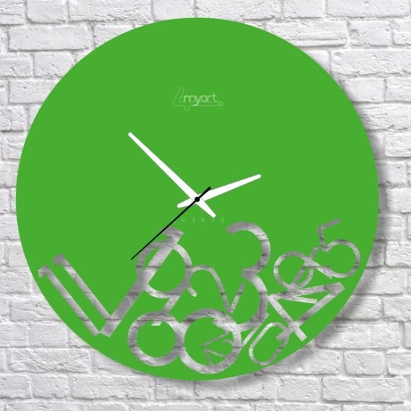 Nástenné hodiny Green Confusion