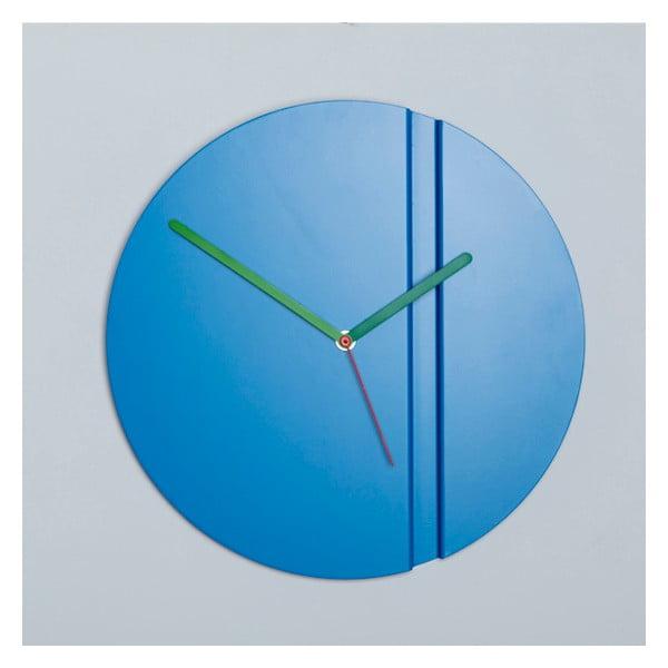 Nástenné hodiny Pleat Fold, modré