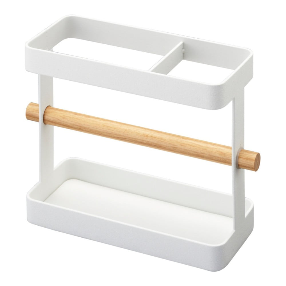 Biely stojan na kuchynské nástroje YAMAZAKI Tosca
