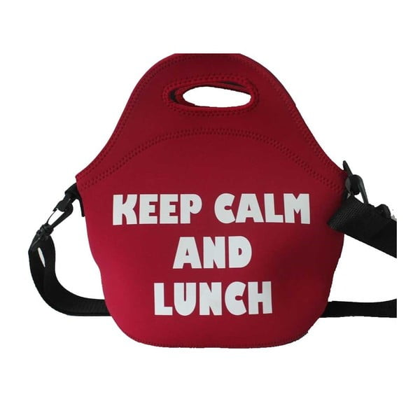 Červená desiatová taška z neoprénu Bergner Cube