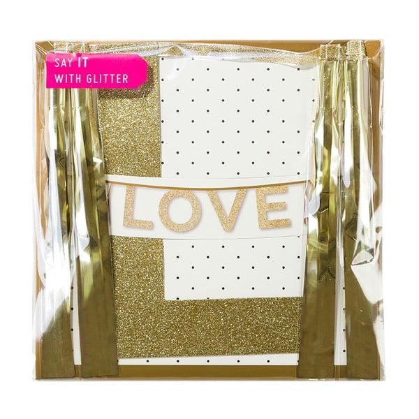 Girlanda Love Glitter, 2 m