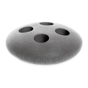 Sivý betónový stojan na kefky Iris Hantverk