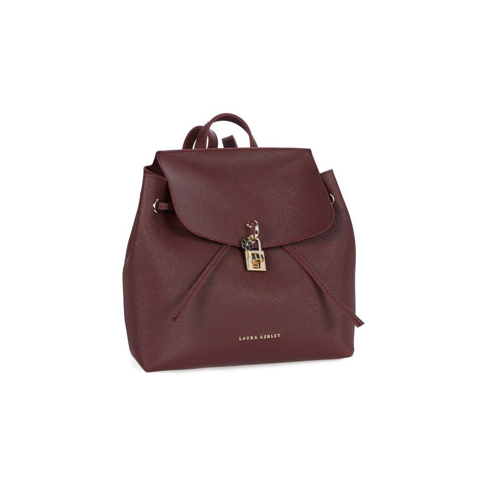 Červený dámsky batoh z kože Laura Ashley Hoxton